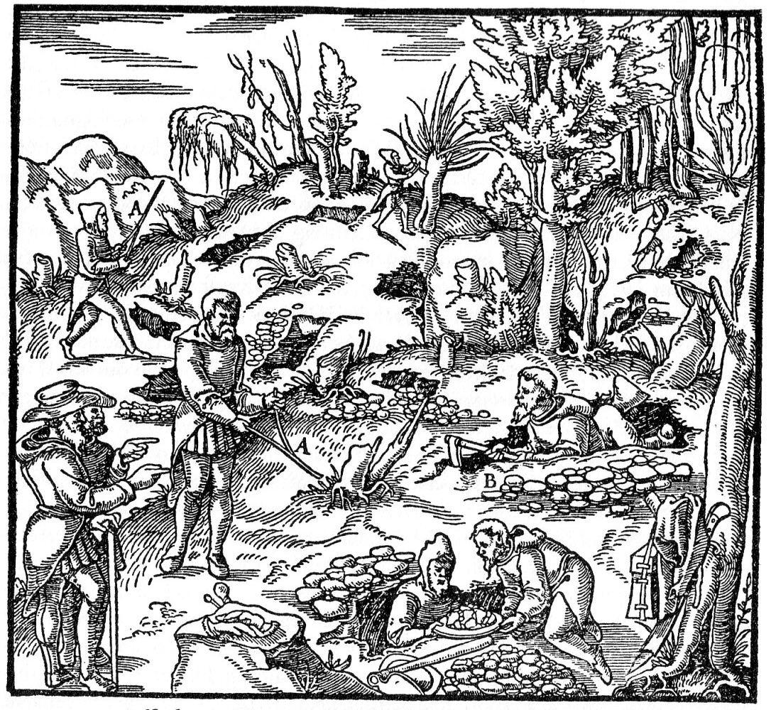 Georgius Agricola, De re metallica libri XII, Bâle, Jean Froben, 1556