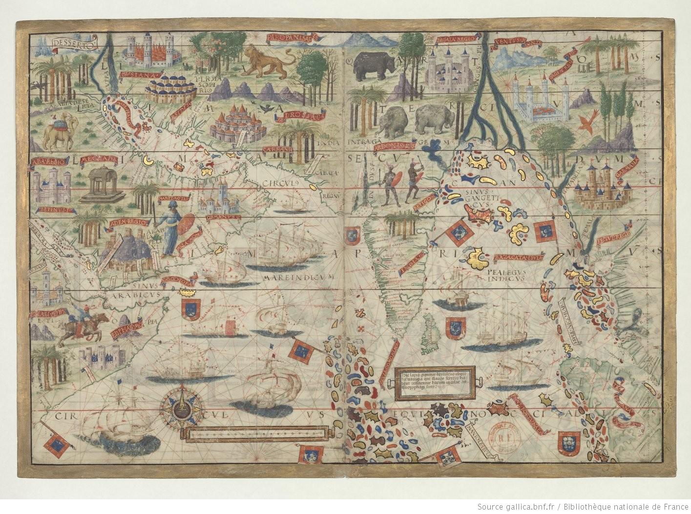 Pedro et Jorge Reinel, Lopo Homem, Atlas nautique du monde, dit Atlas Miller (1519)