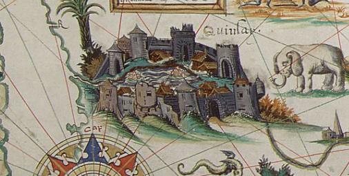 Pierre Desceliers, Mappemonde, 1550 © British Library (détail)