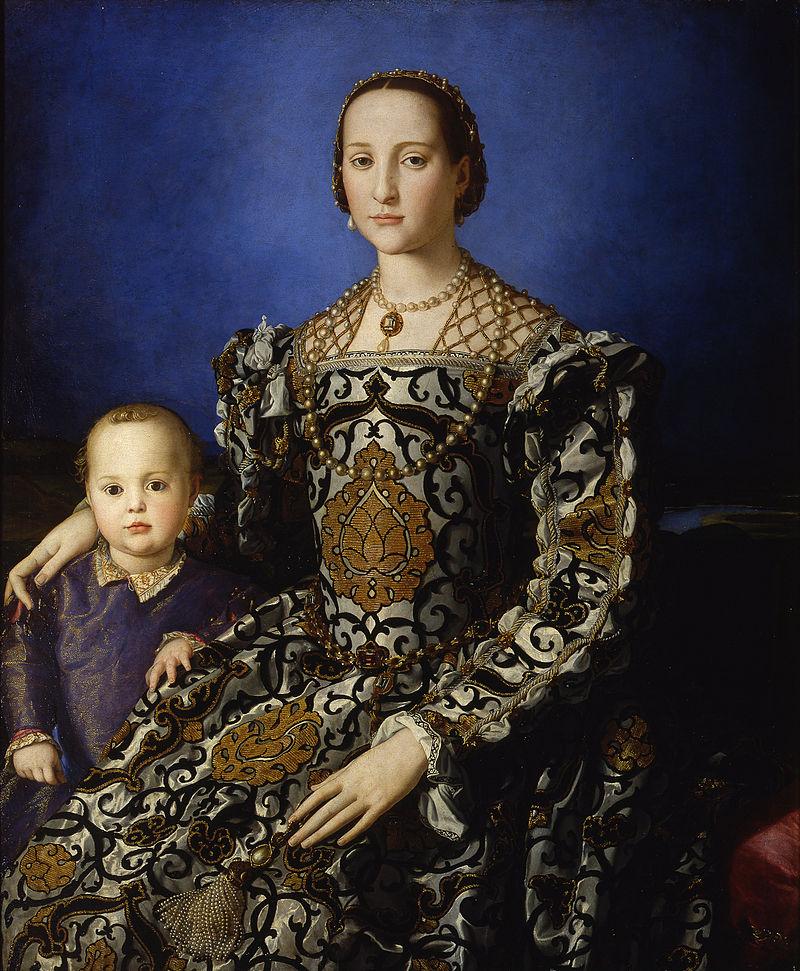 Bronzino, Portrait d'Eléonore de Tolède et de son fils, huile sur toile, c. 1545.