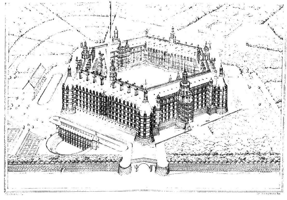 Restitution de l'abbaye de Thélème par Charles Lenormant (1840)