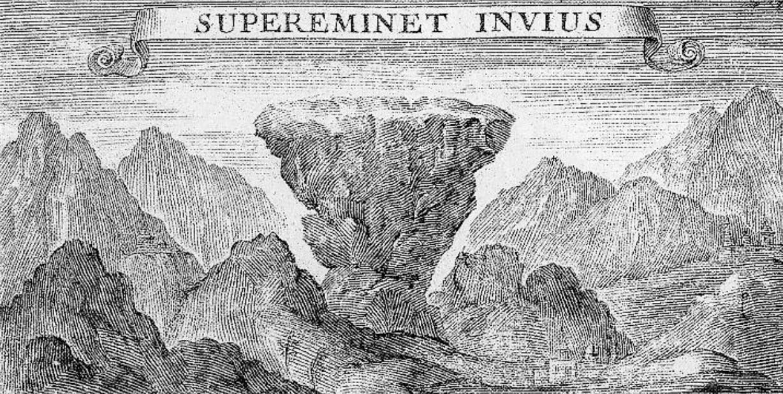 Gravure Mont Aiguille, v. 1525