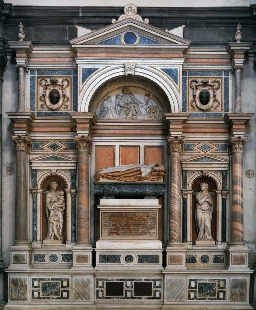 Jacopo Sansovino, Monument funéraire du  Doge Francesco Venier 1555-61 Marbre San Salvador, Venice