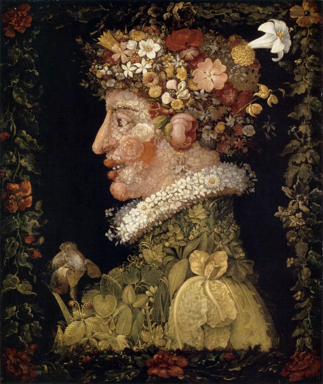 Giuseppe Arcimboldo, Le Printemps, 1573, huile sur toile, 76,5 × 64 cm, Le Louvre