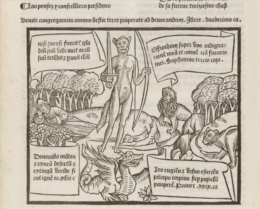 "Jean Bouchet, ""Les Regnars traversant"", Paris, Antoine Vérard, c. 1504, f. c4 v° (BnF, Res YH-7, NUMM-1510606)"