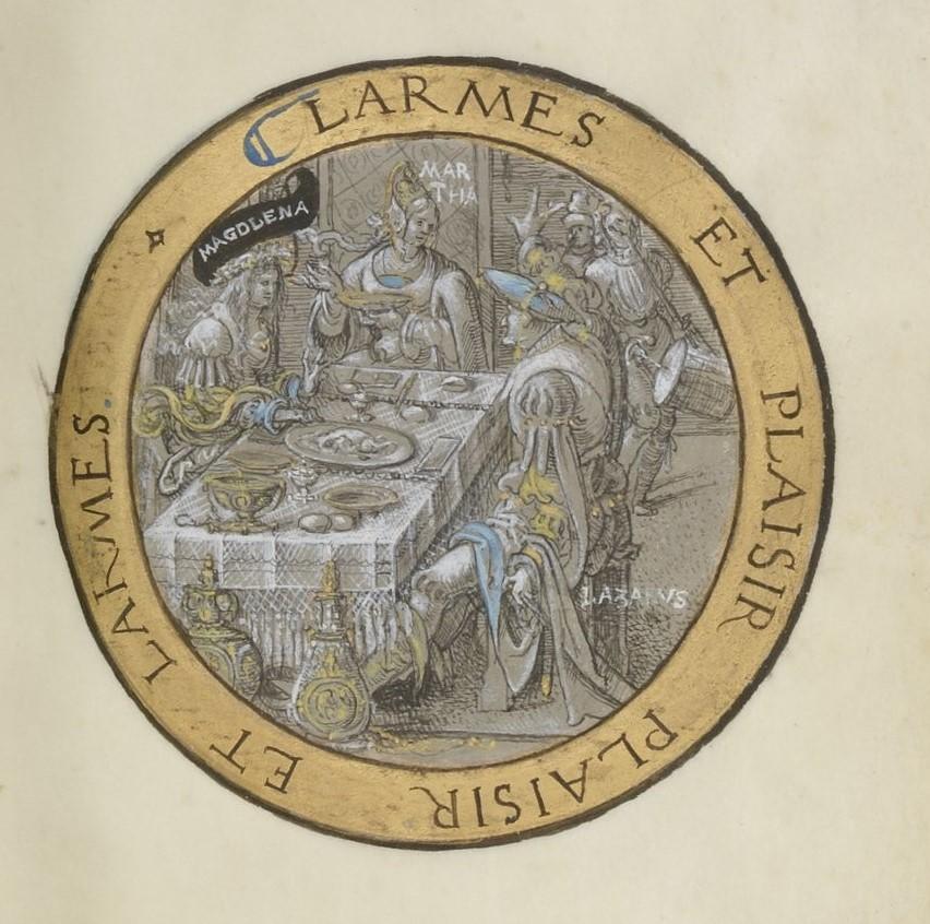 """François Demoulins de Rochefort, """"La Vie de la belle et clere Magdalene"""", enluminure de Godefroy le Batave (source : Gallica)."""