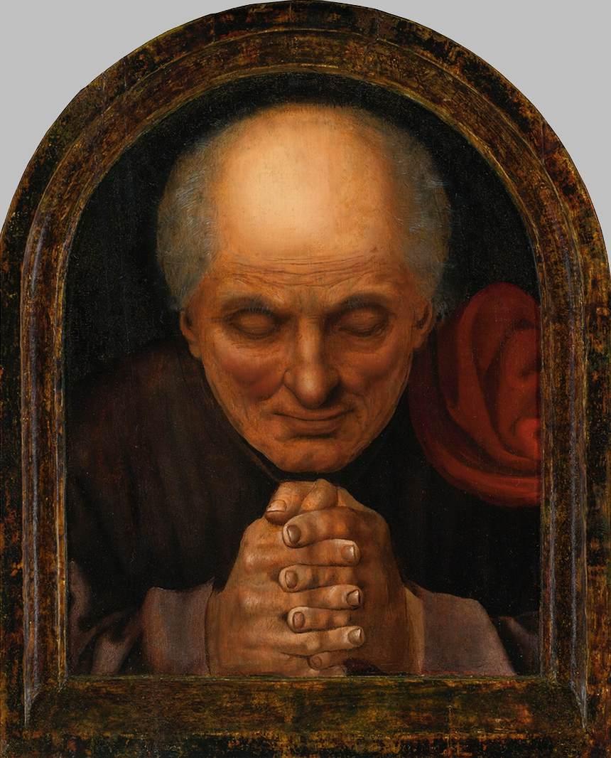 """Jan Massys, """"Moine en prière"""", vers 1530, huile sur bois, collection privée (WGA)."""