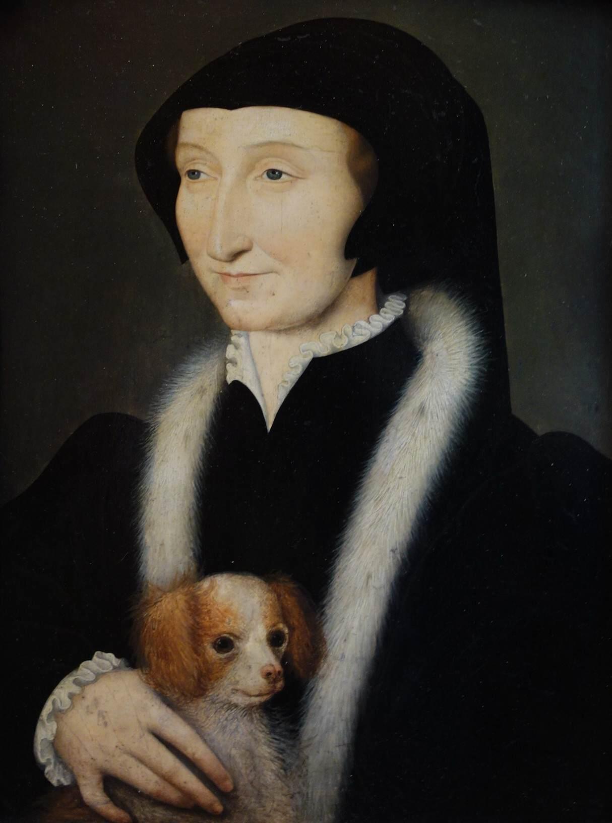 """François Clouet, """"Marguerite de Navarre"""", Musée Condé, Chantilly (WGA)."""