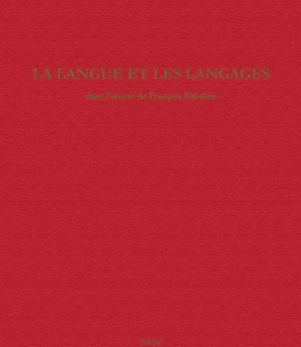 La langue et les langages dans l'œuvre de François Rabelais