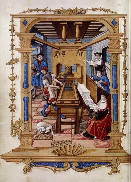 Enluminure d'Étienne Collault dans Chants royaux sur la Conception couronnés au Puy de Rouen, vers 1530. BnF, département des Manuscrits, Français 1537, fol. 29v