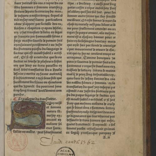 Traductions imprimées, traductions pour l'imprimé (1470-1550)