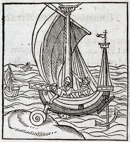 André Alciat, Livret des emblemes, Paris, Chrestien Wechel, 1536, f. G 6 v°, « In facilè à virtute desciscentes », « A ceulx qui facilement laissent vertus ».